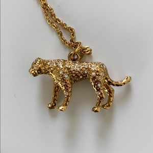 J. Crew Gold Tiger Necklace